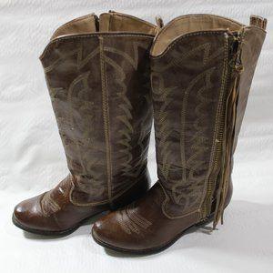 Cowboy womens boots zip up Big Buddha size 7.5